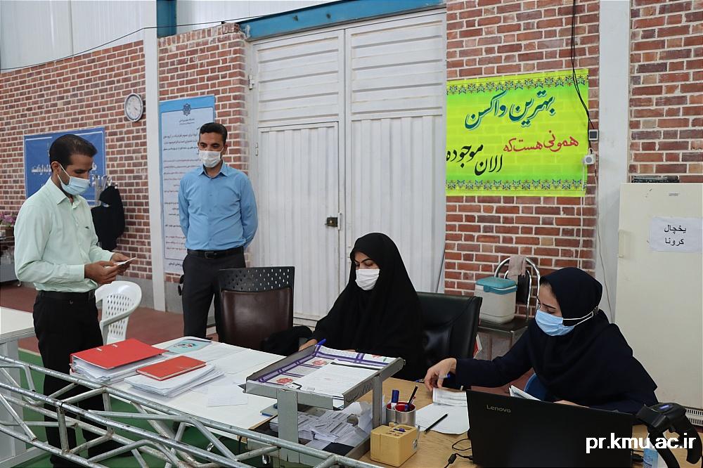 a (6)-گزارشی از روند فعالیت مراکز واکسیناسیون در سه شهرستان راور،کوهبنان و زرند