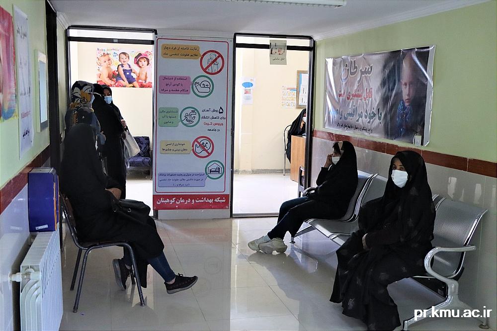 e (6)-گزارشی از روند فعالیت مراکز واکسیناسیون در سه شهرستان راور،کوهبنان و زرند