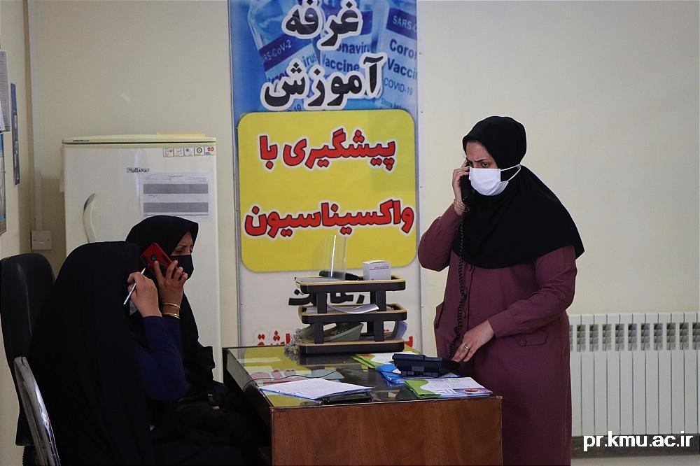 e (8)-گزارشی از روند فعالیت مراکز واکسیناسیون در سه شهرستان راور،کوهبنان و زرند